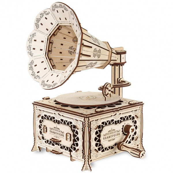 Eco Wood Art: Gramophone