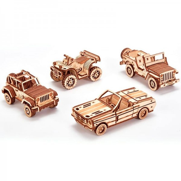 Wood Trick: Set of cars
