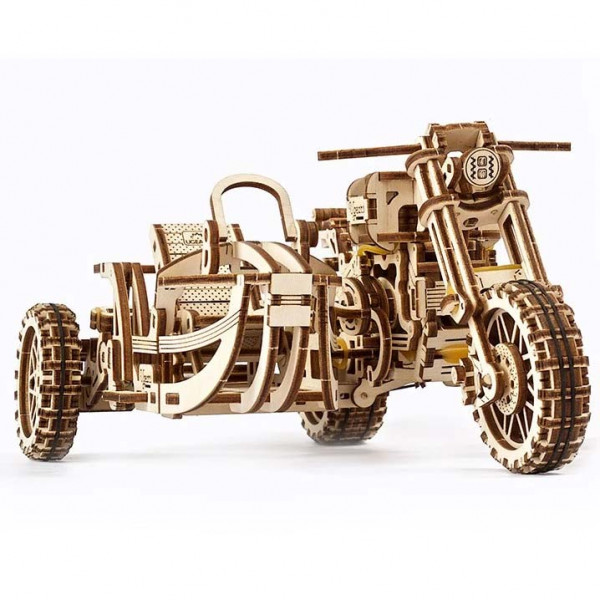Ugears Motorrad Scrambler UGR-10 mit Beiwagen