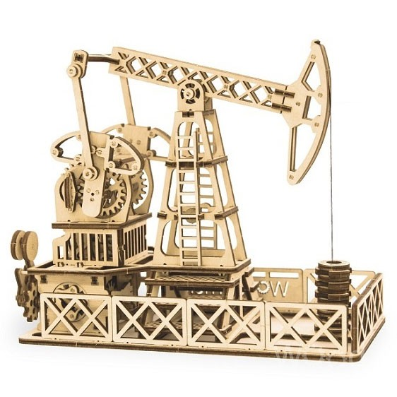 Wood Trick: Oil Derrick (Ölförderanlage)