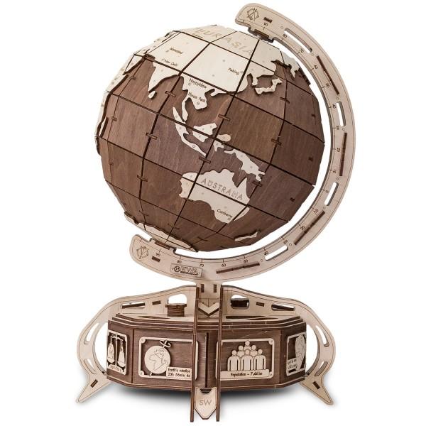 Eco Wood Art: Globe (braun)