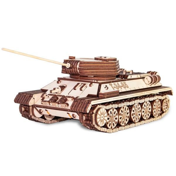Eco Wood Art: Tank T-34-85