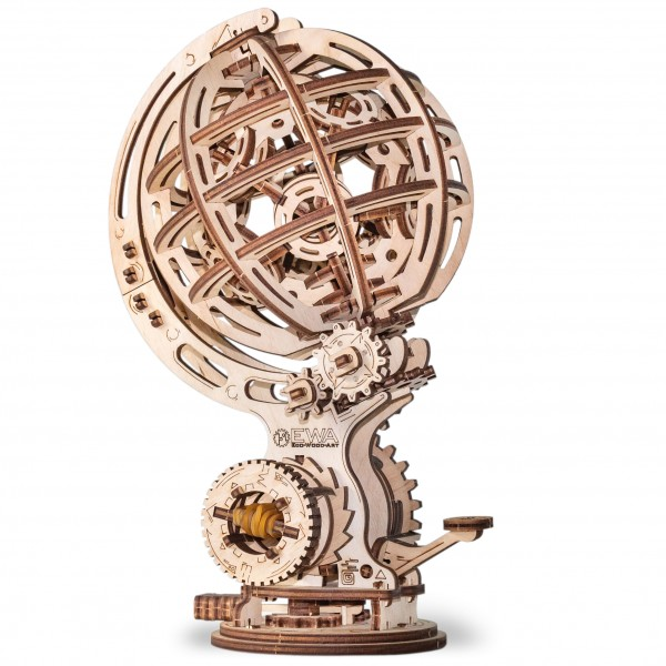Eco Wood Art: Kinetic Globe
