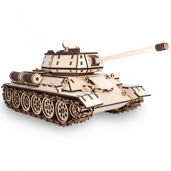 Eco Wood Art: Tank T-34